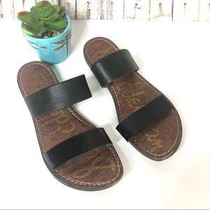 Sam Edelman KRISTA Flat Slip On Black Sandals